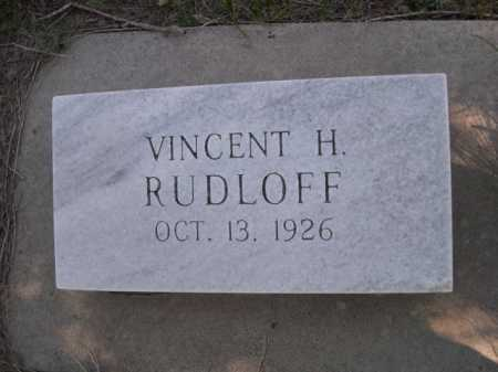 RUDLOFF, VINCENT H. - Dawes County, Nebraska | VINCENT H. RUDLOFF - Nebraska Gravestone Photos