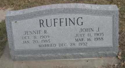 RUFFING, JENNIE R. - Dawes County, Nebraska | JENNIE R. RUFFING - Nebraska Gravestone Photos