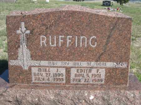 RUFFING, EDITH F. - Dawes County, Nebraska | EDITH F. RUFFING - Nebraska Gravestone Photos