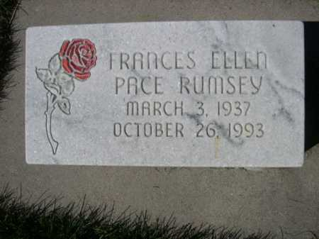 PACE RUMSEY, FRANCES ELLEN - Dawes County, Nebraska | FRANCES ELLEN PACE RUMSEY - Nebraska Gravestone Photos
