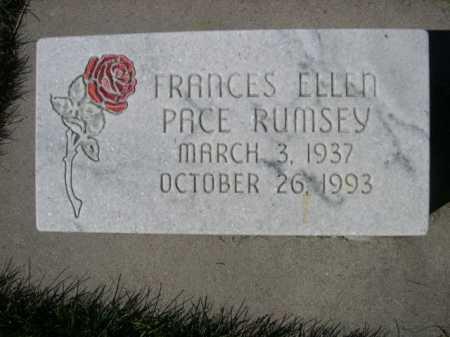 RUMSEY, FRANCES ELLEN - Dawes County, Nebraska | FRANCES ELLEN RUMSEY - Nebraska Gravestone Photos