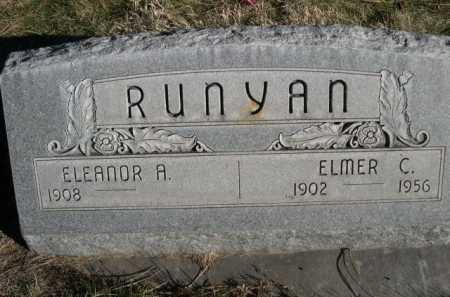 RUNYAN, ELEANOR A. - Dawes County, Nebraska   ELEANOR A. RUNYAN - Nebraska Gravestone Photos