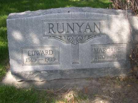 RUNYAN, EDWARD - Dawes County, Nebraska | EDWARD RUNYAN - Nebraska Gravestone Photos