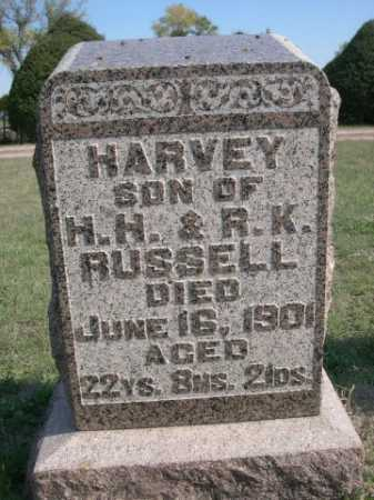 RUSSELL, HARVEY - Dawes County, Nebraska | HARVEY RUSSELL - Nebraska Gravestone Photos
