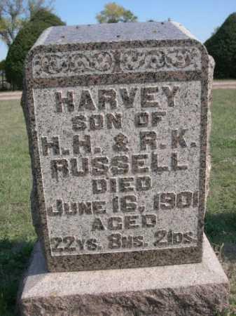 RUSSELL, HARVEY - Dawes County, Nebraska   HARVEY RUSSELL - Nebraska Gravestone Photos