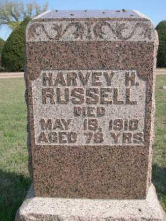 RUSSELL, HARVEY H. - Dawes County, Nebraska   HARVEY H. RUSSELL - Nebraska Gravestone Photos