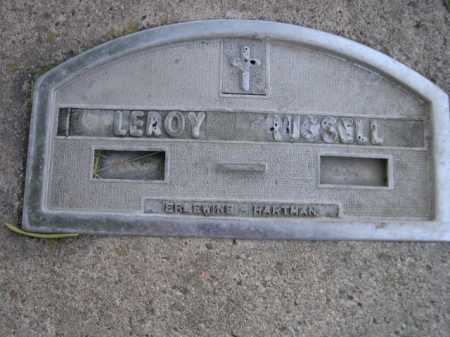 RUSSELL, LEROY - Dawes County, Nebraska   LEROY RUSSELL - Nebraska Gravestone Photos