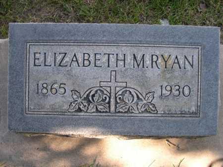 RYAN, ELIZABETH M - Dawes County, Nebraska   ELIZABETH M RYAN - Nebraska Gravestone Photos