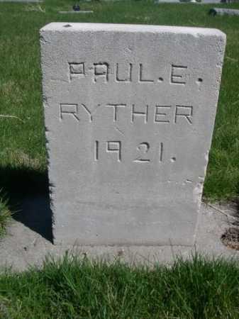 RYTHER, PAUL E. - Dawes County, Nebraska | PAUL E. RYTHER - Nebraska Gravestone Photos