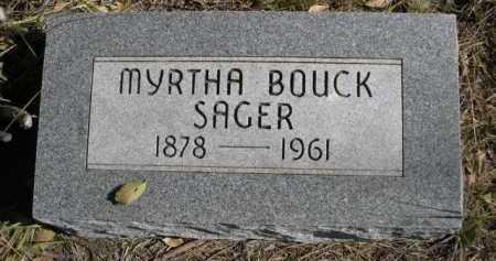 SAGER, MYRTHA - Dawes County, Nebraska | MYRTHA SAGER - Nebraska Gravestone Photos
