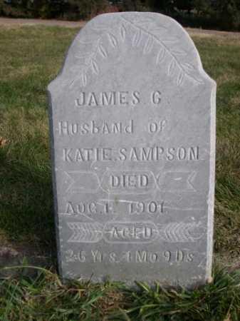 SAMPSON, JAMES G. - Dawes County, Nebraska | JAMES G. SAMPSON - Nebraska Gravestone Photos