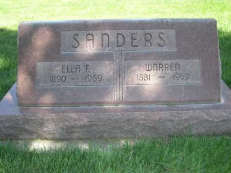 SANDERS, WARREN - Dawes County, Nebraska | WARREN SANDERS - Nebraska Gravestone Photos