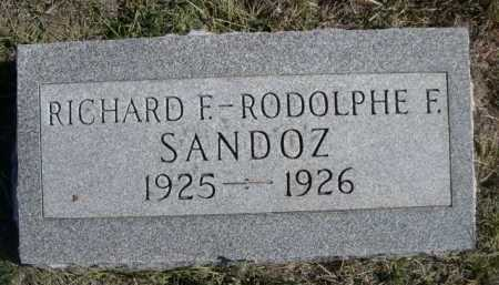 SANDOZ, RICHARD F. - Dawes County, Nebraska | RICHARD F. SANDOZ - Nebraska Gravestone Photos