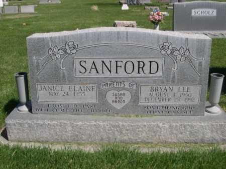 SANFORD, JANICE ELAINE - Dawes County, Nebraska | JANICE ELAINE SANFORD - Nebraska Gravestone Photos