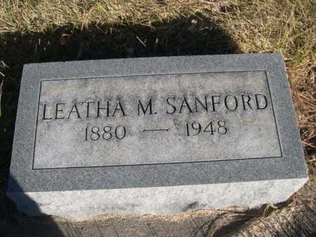 SANFORD, LEATHA M. - Dawes County, Nebraska | LEATHA M. SANFORD - Nebraska Gravestone Photos