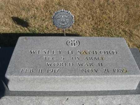 SANFORD, WESLEY H. - Dawes County, Nebraska | WESLEY H. SANFORD - Nebraska Gravestone Photos