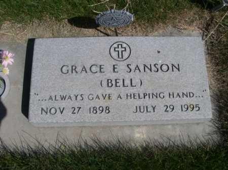 BELL SANSON, GRACE E (BELL) - Dawes County, Nebraska   GRACE E (BELL) BELL SANSON - Nebraska Gravestone Photos