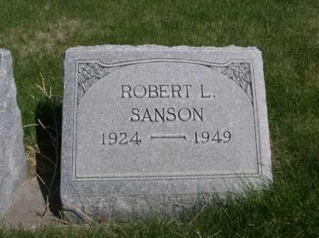 SANSON, ROBERT L. - Dawes County, Nebraska   ROBERT L. SANSON - Nebraska Gravestone Photos