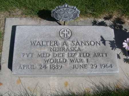 SANSON, WALTER A. - Dawes County, Nebraska   WALTER A. SANSON - Nebraska Gravestone Photos