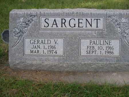 SARGENT, GERALD V. - Dawes County, Nebraska | GERALD V. SARGENT - Nebraska Gravestone Photos