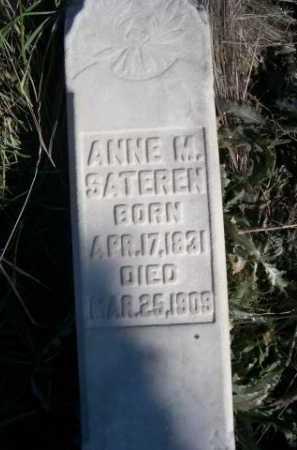 SATEREN, ANNE M. - Dawes County, Nebraska | ANNE M. SATEREN - Nebraska Gravestone Photos