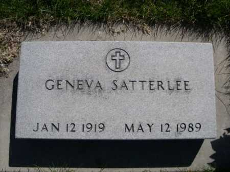 SATTERLEE, GENEVA - Dawes County, Nebraska | GENEVA SATTERLEE - Nebraska Gravestone Photos