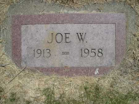 SAULTS, JOE W. - Dawes County, Nebraska   JOE W. SAULTS - Nebraska Gravestone Photos