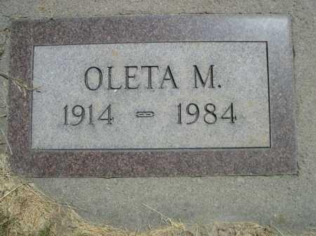 SAULTS, OLETA M. - Dawes County, Nebraska | OLETA M. SAULTS - Nebraska Gravestone Photos