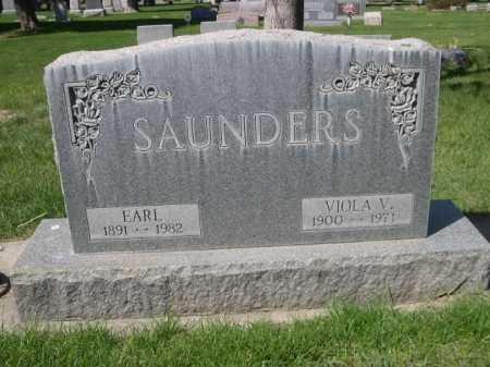 SAUNDERS, EARL - Dawes County, Nebraska | EARL SAUNDERS - Nebraska Gravestone Photos