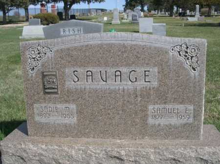 SAVAGE, SAMUEL E. - Dawes County, Nebraska | SAMUEL E. SAVAGE - Nebraska Gravestone Photos