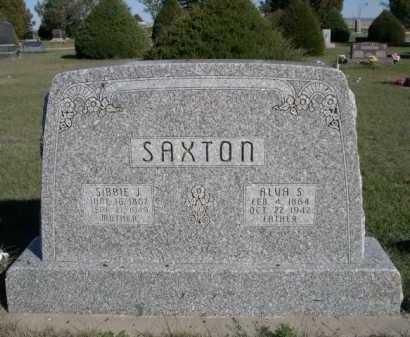 SAXTON, ALVIN S. - Dawes County, Nebraska | ALVIN S. SAXTON - Nebraska Gravestone Photos