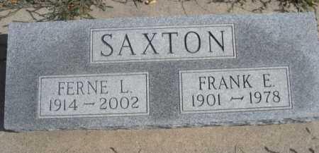 SAXTON, FRANK E. - Dawes County, Nebraska | FRANK E. SAXTON - Nebraska Gravestone Photos