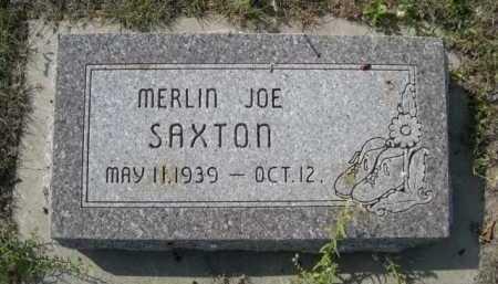 SAXTON, MERLIN JOE - Dawes County, Nebraska | MERLIN JOE SAXTON - Nebraska Gravestone Photos