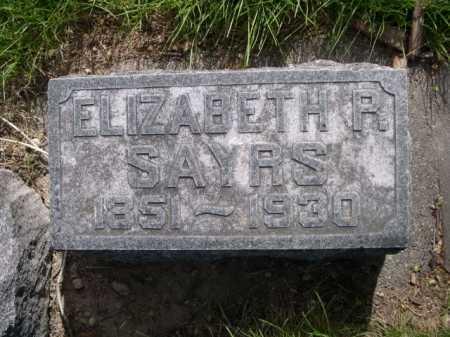 SAYRS, ELIZABETH R. - Dawes County, Nebraska   ELIZABETH R. SAYRS - Nebraska Gravestone Photos