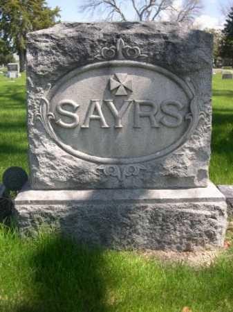 SAYRS, FAMILY - Dawes County, Nebraska   FAMILY SAYRS - Nebraska Gravestone Photos