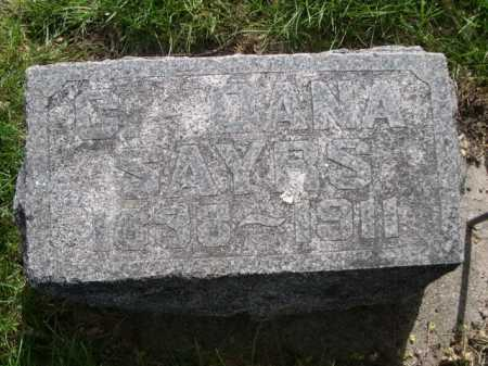 SAYRS, G. DANA - Dawes County, Nebraska | G. DANA SAYRS - Nebraska Gravestone Photos