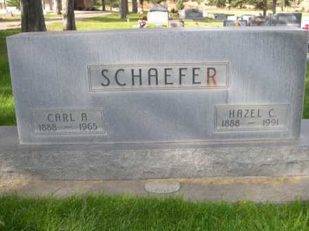 SCHAEFER, CARL R - Dawes County, Nebraska | CARL R SCHAEFER - Nebraska Gravestone Photos