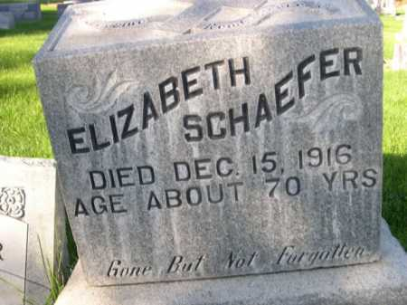 SCHAEFER, ELIZABETH - Dawes County, Nebraska | ELIZABETH SCHAEFER - Nebraska Gravestone Photos