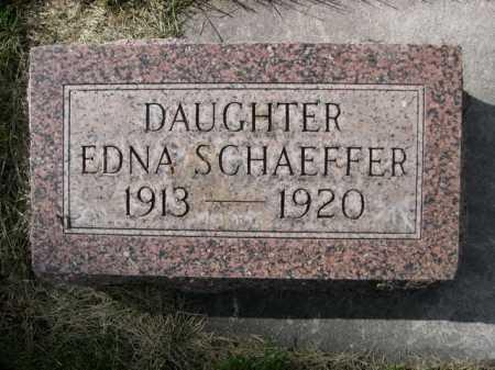 SCHAEFFER, EDNA - Dawes County, Nebraska | EDNA SCHAEFFER - Nebraska Gravestone Photos