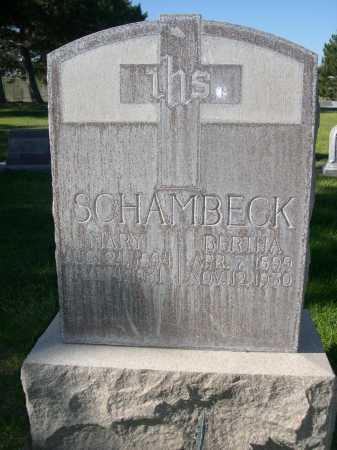SCHAMBECK, BERTHA - Dawes County, Nebraska | BERTHA SCHAMBECK - Nebraska Gravestone Photos