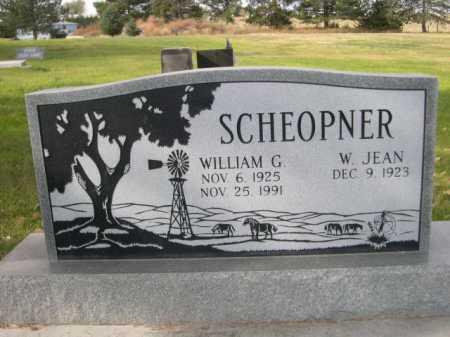 SCHEOPNER, WILLIAM G. - Dawes County, Nebraska | WILLIAM G. SCHEOPNER - Nebraska Gravestone Photos