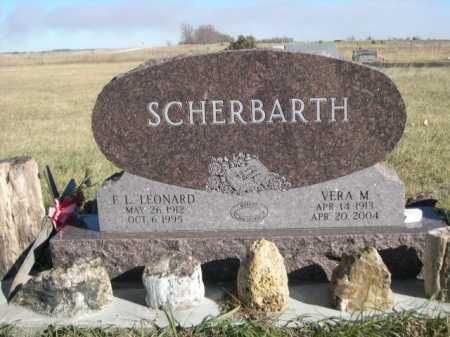 SCHERBARTH, F. L. LEONARD - Dawes County, Nebraska | F. L. LEONARD SCHERBARTH - Nebraska Gravestone Photos
