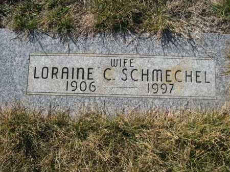 SCHMECHEL, LORAINE C. - Dawes County, Nebraska | LORAINE C. SCHMECHEL - Nebraska Gravestone Photos