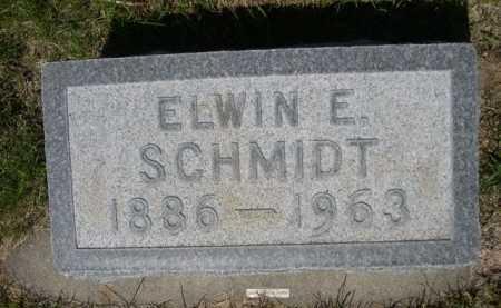 SCHMIDT, ELWIN E. - Dawes County, Nebraska | ELWIN E. SCHMIDT - Nebraska Gravestone Photos