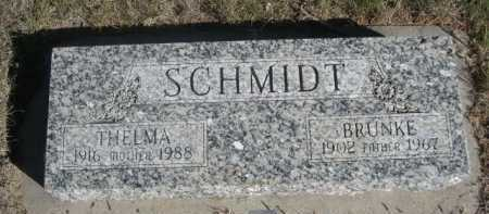 SCHMIDT, BRUNKE - Dawes County, Nebraska | BRUNKE SCHMIDT - Nebraska Gravestone Photos