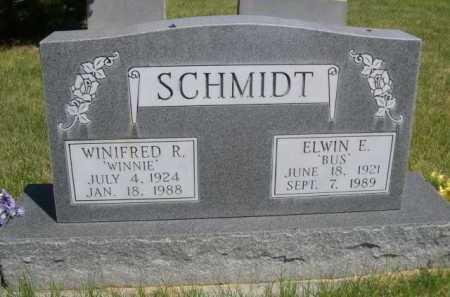 "SCHMIDT, ELWIN E. ""BUS"" - Dawes County, Nebraska | ELWIN E. ""BUS"" SCHMIDT - Nebraska Gravestone Photos"