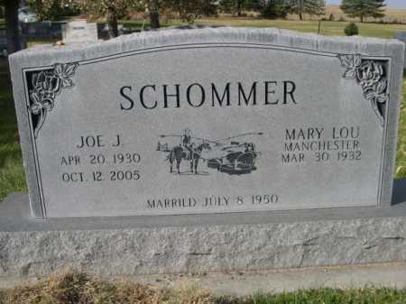 MANCHESTER SCHOMMER, MARY LOU - Dawes County, Nebraska | MARY LOU MANCHESTER SCHOMMER - Nebraska Gravestone Photos