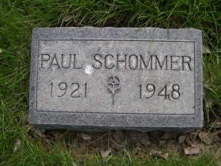 SCHOMMER, PAUL - Dawes County, Nebraska   PAUL SCHOMMER - Nebraska Gravestone Photos