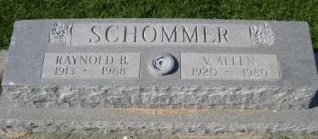 SCHOMMER, V. ALEEN - Dawes County, Nebraska | V. ALEEN SCHOMMER - Nebraska Gravestone Photos