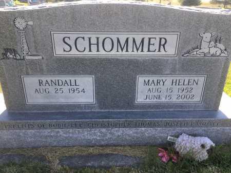 SCHOMMER, RANDALL - Dawes County, Nebraska   RANDALL SCHOMMER - Nebraska Gravestone Photos